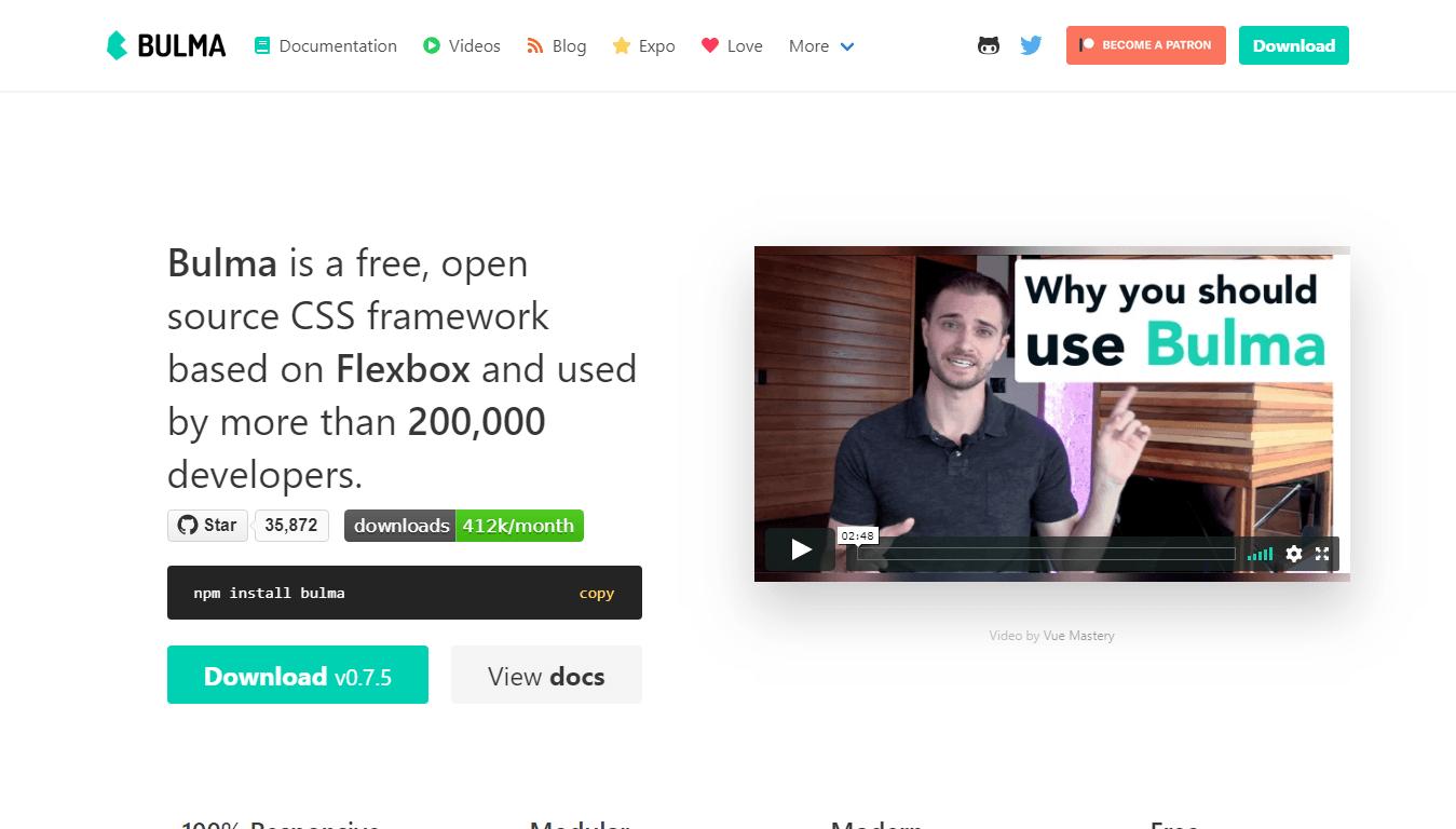 Bulma HTML CSS