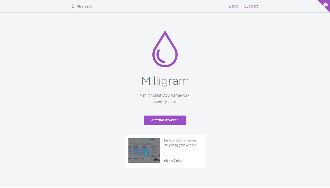 Milligram Web Design Framework