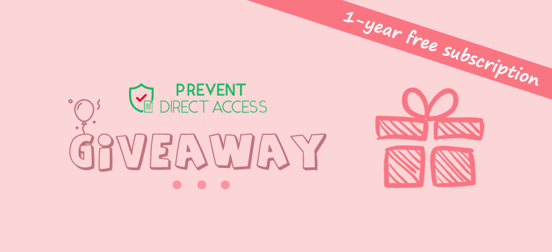 Prevent Direct Access WordPress plugin giveaway: 1-year subscription to win