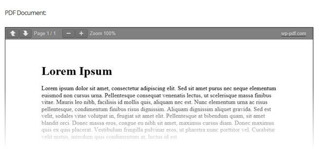 WordPress PDF Document Viewer