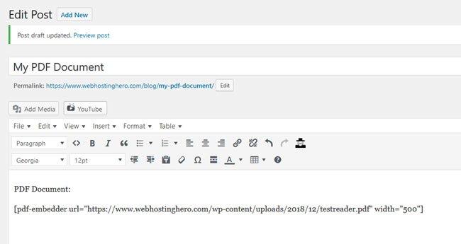 PDF Viewer Width